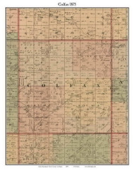 Colfax, Michigan 1875 Old Town Map Custom Print - Huron Co.