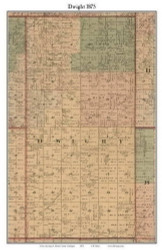 Dwight, Michigan 1875 Old Town Map Custom Print - Huron Co.