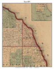 Gore, Michigan 1875 Old Town Map Custom Print - Huron Co.