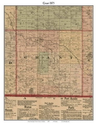 Grant, Michigan 1875 Old Town Map Custom Print - Huron Co.