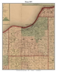 Hume, Michigan 1875 Old Town Map Custom Print - Huron Co.