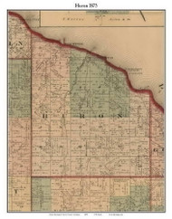 Huron, Michigan 1875 Old Town Map Custom Print - Huron Co.