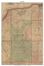 Lake, Michigan 1875 Old Town Map Custom Print - Huron Co.