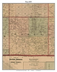 Paris, Michigan 1875 Old Town Map Custom Print - Huron Co.