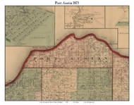 Port Austin, Michigan 1875 Old Town Map Custom Print - Huron Co.