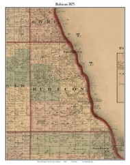 Rubicon, Michigan 1875 Old Town Map Custom Print - Huron Co.
