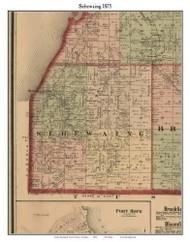 Sebewaing, Michigan 1875 Old Town Map Custom Print - Huron Co.