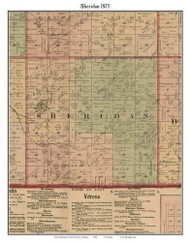 Sheridan, Michigan 1875 Old Town Map Custom Print - Huron Co.