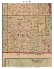 Sherman, Michigan 1875 Old Town Map Custom Print - Huron Co.