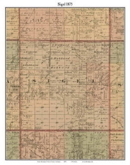 Sigel, Michigan 1875 Old Town Map Custom Print - Huron Co.