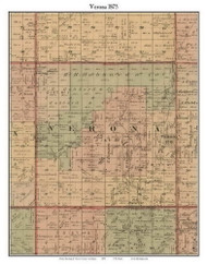 Verona, Michigan 1875 Old Town Map Custom Print - Huron Co.