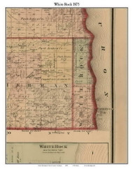 White Rock, Michigan 1875 Old Town Map Custom Print - Huron Co.