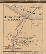 Huron City, Michigan 1875 Old Town Map Custom Print - Huron Co.