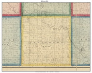 Jefferson, Indiana 1866 Old Town Map Custom Print - Huntington Co.