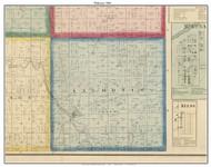 Salmonie, Indiana 1866 Old Town Map Custom Print - Huntington Co.