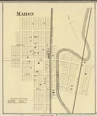 Mahon Village, Jackson, Indiana 1866 Old Town Map Custom Print - Huntington Co.