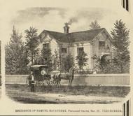 McCaughey Residence, Clear Creek, Indiana 1866 Old Town Map Custom Print - Huntington Co.