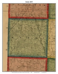 Delhi, Michigan 1859 Old Town Map Custom Print - Ingham Co.