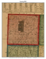 Lansing, Michigan 1859 Old Town Map Custom Print - Ingham Co.