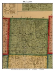 Meridian, Michigan 1859 Old Town Map Custom Print - Ingham Co.