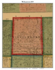 Williamstown, Michigan 1859 Old Town Map Custom Print - Ingham Co.