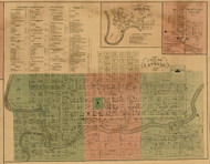 Lansing City, Michigan 1859 Old Town Map Custom Print - Ingham Co.