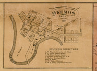 Okemos, Michigan 1859 Old Town Map Custom Print - Ingham Co.