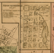 Stockbridge Village, Michigan 1859 Old Town Map Custom Print - Ingham Co.