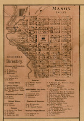 Mason, Michigan 1859 Old Town Map Custom Print - Ingham Co.