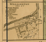 Williamstown Village, Michigan 1859 Old Town Map Custom Print - Ingham Co.