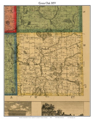 Green Oak, Michigan 1859 Old Town Map Custom Print - Livingston Co.