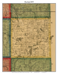 Hartland, Michigan 1859 Old Town Map Custom Print - Livingston Co.