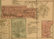 Brighton Vilage, Michigan 1859 Old Town Map Custom Print - Livingston Co.