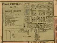 Fowlerville, Michigan 1859 Old Town Map Custom Print - Livingston Co.