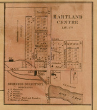 Hartland Centre, Michigan 1859 Old Town Map Custom Print - Livingston Co.