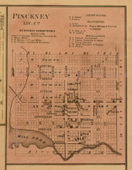 Pickney, Michigan 1859 Old Town Map Custom Print - Livingston Co.