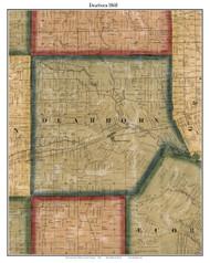 Dearborn, Michigan 1860 Old Town Map Custom Print - Wayne Co.