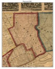 Hamtramck, Michigan 1860 Old Town Map Custom Print - Wayne Co.
