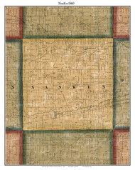 Nankin, Michigan 1860 Old Town Map Custom Print - Wayne Co.
