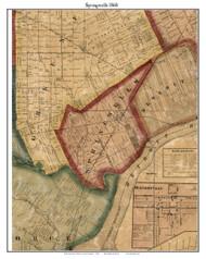 Springwells, Michigan 1860 Old Town Map Custom Print - Wayne Co.