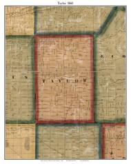 Taylor, Michigan 1860 Old Town Map Custom Print - Wayne Co.