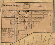 Dearbornville Village, Dearborn, Michigan 1860 Old Town Map Custom Print - Wayne Co.
