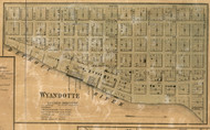 Wyandotte Village, Ecorce, Michigan 1860 Old Town Map Custom Print - Wayne Co.