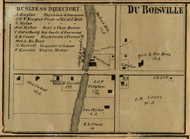 DuBoisville Village, Redford, Michigan 1860 Old Town Map Custom Print - Wayne Co.