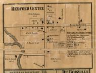 Redford Center Village, Redford, Michigan 1860 Old Town Map Custom Print - Wayne Co.