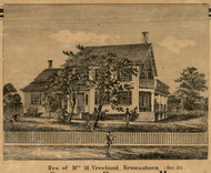 Vreeland Residence, Brownstown, Michigan 1860 Old Town Map Custom Print - Wayne Co.