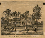 Simmons Residence, Livonia, Michigan 1860 Old Town Map Custom Print - Wayne Co.