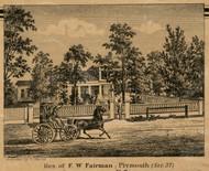 Fairman Residence, Plymouth, Michigan 1860 Old Town Map Custom Print - Wayne Co.