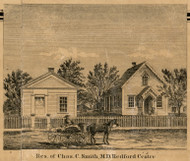 Smith Residence, Redford Centre, Redford, Michigan 1860 Old Town Map Custom Print - Wayne Co.