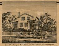 Campan Residence, Springwells, Michigan 1860 Old Town Map Custom Print - Wayne Co.